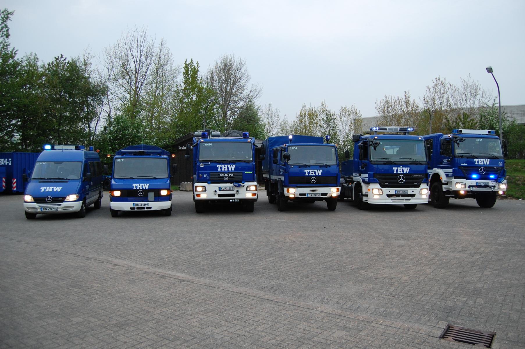 THW OV Cloppenburg: Fahrzeuge & Anhänger
